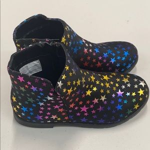 fabkids Ankle Booties With Multicolored St…